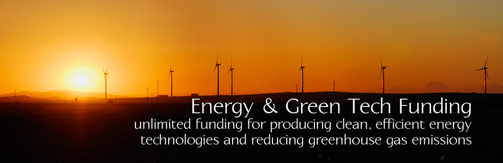 Energy & Green Tech Funding